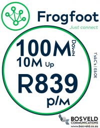 Frogfoot 100Mbps / 10Mbps