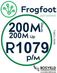 Frogfoot 200Mbps / 200Mbps
