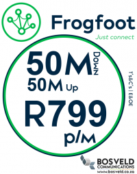Frogfoot 50Mbps / 50Mbps
