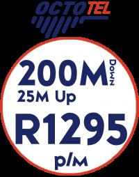 Octotel 200Mbps / 25Mbps
