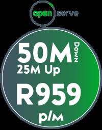 Openserve 50Mbps / 25Mbps