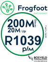 Frogfoot 200Mbps / 20Mbps