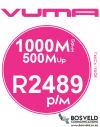 Vuma 1000Mbps / 500Mbps