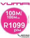 Vuma 100Mbps / 100Mbps